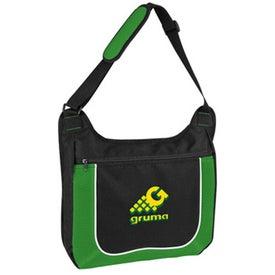 Customized Mesh Accent Zipper Shoulder Bag