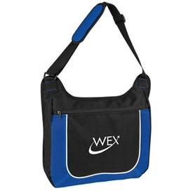 Mesh Accent Zipper Shoulder Bag for Advertising