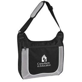 Mesh Accent Zipper Shoulder Bag
