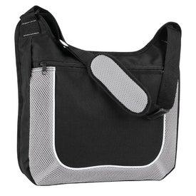 Personalized Mesh Accent Zipper Shoulder Bag Giveaways