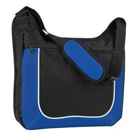 Personalized Mesh Accent Zipper Shoulder Bag