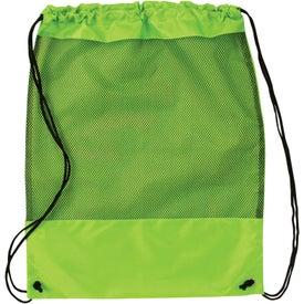 Mesh Cinch Pack Branded with Your Logo