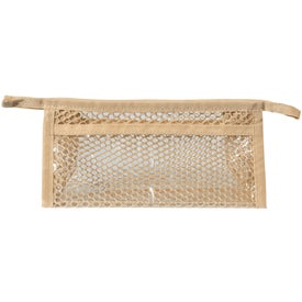 Mesh Cosmetic Bag Imprinted with Your Logo