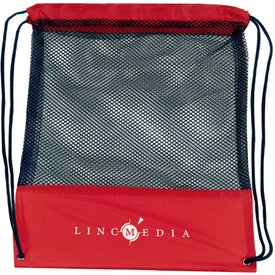 Customizable Mesh Drawstring Backpack for your School