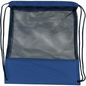 Custom Customizable Mesh Drawstring Backpack