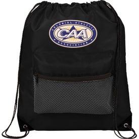 Mesh Front Pocket Drawstring Sportspack Bag