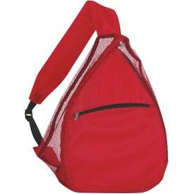 Logo Mesh Sling Backpack