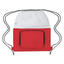 Mesh Sports Pack With Front Pocket for Advertising