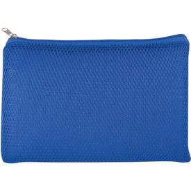 Monogrammed Mesh Vanity Bag