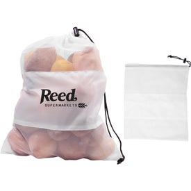 Mesh Vegetable Drawcord Bag Printed with Your Logo