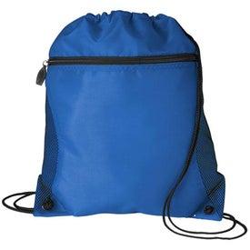 Imprinted Mesh Pocket Drawcord Bag