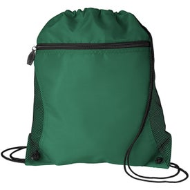 Branded Mesh Pocket Drawcord Bag