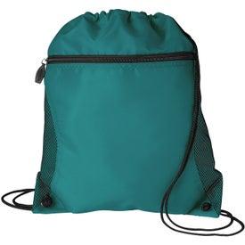 Mesh Pocket Drawcord Bag for Advertising