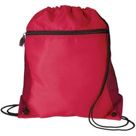 Personalized Mesh Pocket Drawcord Bag