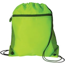 Mesh Pocket Drawcord Bag for Your Church