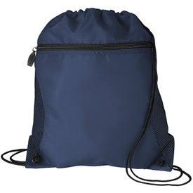 Logo Mesh Pocket Drawcord Bag