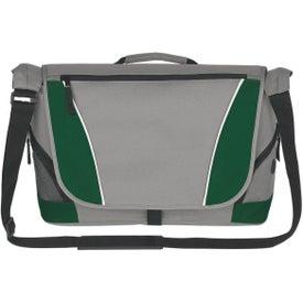 Monogrammed Polyester Messenger Bag