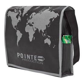 World Map Recycled Messenger Bag