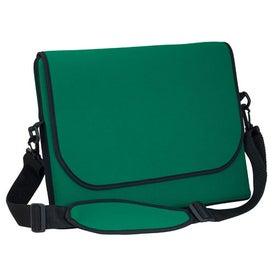 Monogrammed Messenger Bag Style Laptop Sleeve