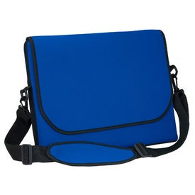 Messenger Bag Style Laptop Sleeve with Your Slogan