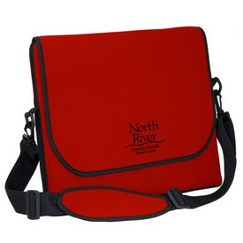 "Messenger Bag Style Laptop Sleeve (15.25"" x 13.25"" x 1"", Screen Print)"