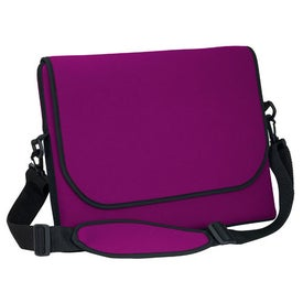 "Messenger Bag Style Laptop Sleeve (17.25"" x 14.25"" x 1"", Screen Print)"
