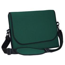 Imprinted Messenger Bag Style Laptop Sleeve
