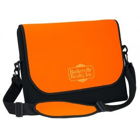 "Messenger Bag Style Laptop Sleeve (14.75"" x 12.125"" x 1"", Screen Print)"