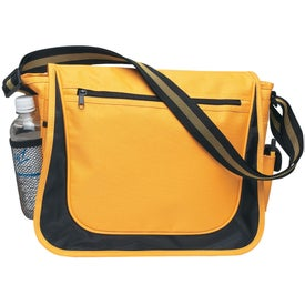 Messenger Bag with Matching Striped Handle with Your Logo