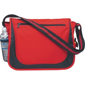 Messenger Bag with Matching Striped Handle for Advertising
