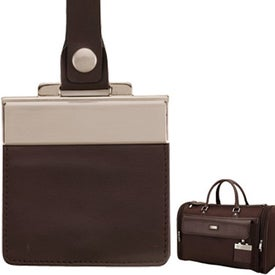 Customized Messina Dark Brown Leather Twill Nylon Travel Bag