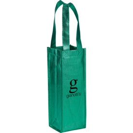 Metallic Single Bottle Wine Tote Bag