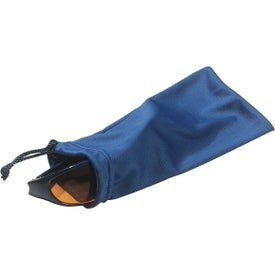 Logo Microfiber Pouch with Drawstring