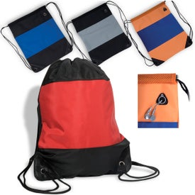 Microfiber String Backpack Printed with Your Logo
