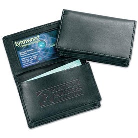 Milan Gusseted Card Holder for Marketing