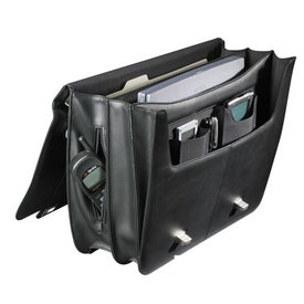 Personalized Millennium Leather Deluxe Compu-Saddle Bag