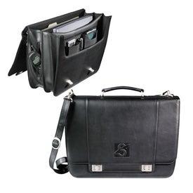 Millennium Leather Deluxe Compu-Saddle Bag