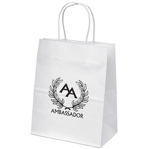 Mini White Paper Shopper Bag