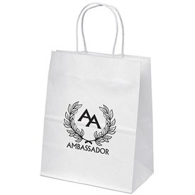 Mini White Paper Shopper Bag for Your Organization