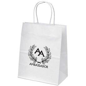 Mini White Paper Shopper Bag for Your Organization