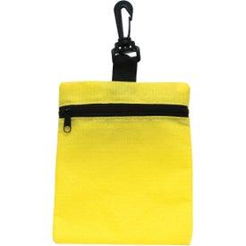 Logo Mini Zippered Non Woven Bag