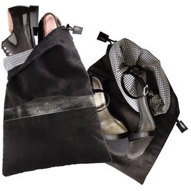 Printed Montauk Sueded Shoe Bag