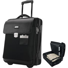 Logo Monza Leather Twill Nylon Trolley Case
