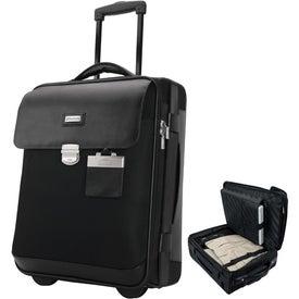 Logo Monza Leather Twill Nylon Trolley Case