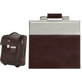 Company Monza Leather Twill Nylon Trolley Case