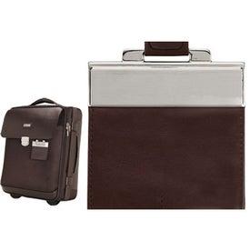 Company Monza Leather Twill Nylon Trolley Case