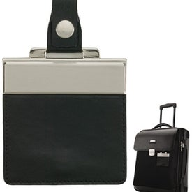 Monogrammed Monza Leather Twill Nylon Trolley Case