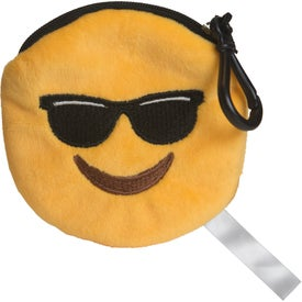 Mr. Cool Emoji Plush Pouches