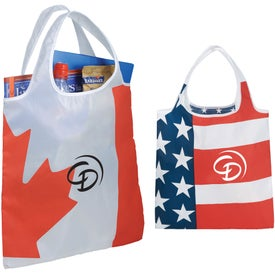 National Foldable Flag Tote Bag