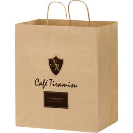 Natural Kraft Paper Shopper Bags